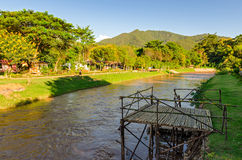 Pai river and landscape (Thailand) Stock Image