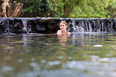 Pai Sai Ngam sekretu hotsprings Zdjęcie Royalty Free