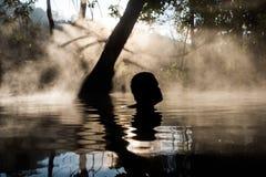 Pai Sai Ngam tajni hotsprings chujący w dżungli w północnym Tajlandia Zdjęcie Stock