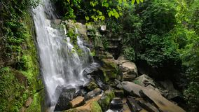 Pai sritong waterfall(golden bamboo waterfall), natural tourist attraction in Phitsanulok province, Thailand. stock video footage