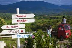 Pai-Stadt in Thailand Stockfoto