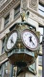 Pai Time Clock Foto de Stock Royalty Free