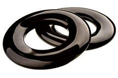 Paia degli anelli dell'ossidiana Fotografie Stock Libere da Diritti