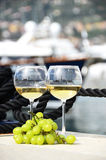 Paia dei bicchieri di vino Immagini Stock