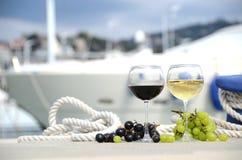 Paia dei bicchieri di vino Fotografia Stock