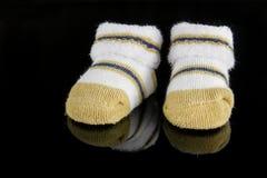 Paia dei calzini del bambino Immagine Stock Libera da Diritti