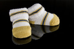 Paia dei calzini del bambino Fotografia Stock