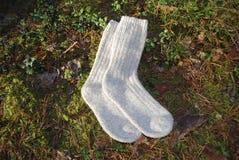 Paia dei calzini della lana Fotografia Stock