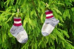 Paia dei calzini di lana Immagine Stock Libera da Diritti