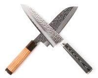 Paia dei coltelli giapponesi costosi Immagine Stock Libera da Diritti