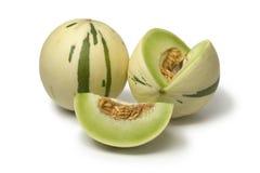 Paia dei meloni di melata bianchi immagine stock libera da diritti