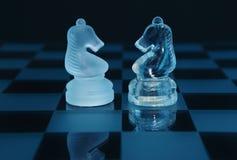 Il paio di scacchi knights l'associazione Fotografie Stock Libere da Diritti