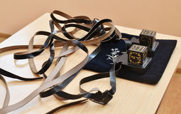 Paia del tfillin, simbolo religioso ebreo Fotografia Stock Libera da Diritti