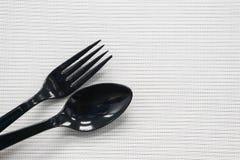paia della forchetta e del cucchiaio Fotografia Stock Libera da Diritti