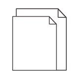 Paia della siluetta dello strato con la curvatura d'angolo illustrazione vettoriale