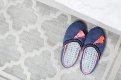 Paia delle pantofole variopinte Immagine Stock