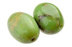 Paia delle perle di Chrysoprase Immagini Stock Libere da Diritti