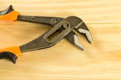 Paia delle prese d'acciaio della talpa con le mandibole regolabili Fotografia Stock