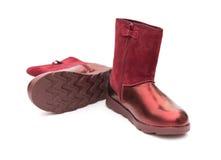 Paia delle scarpe bronzate d'avanguardia per signora Fotografia Stock Libera da Diritti