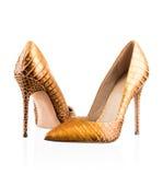 Paia delle scarpe delle donne immagini stock libere da diritti
