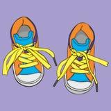 Paia delle scarpe di sport Immagine Stock