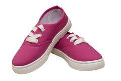 Paia delle scarpe di tela Fotografie Stock