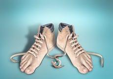Paia delle scarpe l Fotografia Stock