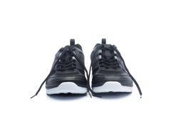 Paia delle scarpe nere di sport, scarpe da tennis Immagini Stock Libere da Diritti