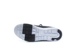 Paia delle scarpe nere di sport, scarpe da tennis Fotografia Stock Libera da Diritti