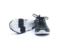 Paia delle scarpe nere di sport, scarpe da tennis Fotografia Stock