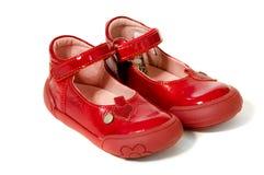 Paia delle scarpe rosse Immagini Stock Libere da Diritti