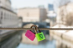 Paia delle serrature di amore Fotografia Stock