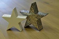 Paia delle stelle sul pavimento di legno Immagini Stock Libere da Diritti