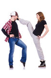 Paia di ballare dei ballerini Fotografie Stock Libere da Diritti