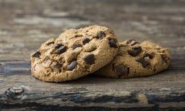 Paia di cioccolato Chip Cookies Fotografie Stock Libere da Diritti