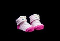 Paia di colore di rosa del calzino del bambino Immagine Stock Libera da Diritti