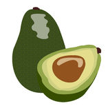 Paia isolate degli avocado royalty illustrazione gratis