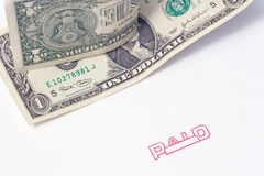 Paid. Stamp stock images