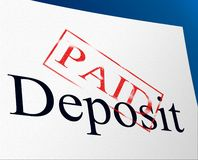 Paid Deposit Shows Part Payment And Advance Stock Photos