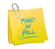 Paid in full post it memo illustration design Stock Photos