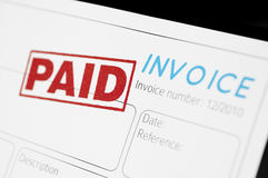 Paid Invoice royalty free stock photo