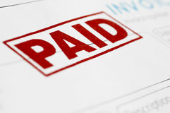 Paid Invoice Stock Image