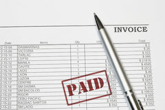 Paid Invoice Stock Photos