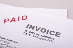 Paid Invoice Royalty Free Stock Photos