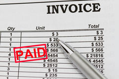 Free Paid Invoices Stock Photography - 24109922