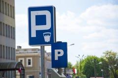 Paid parking sign Stock Photos