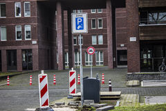 Paid parking zone Stock Photography
