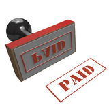 Paid red rubber stamp Stock Image