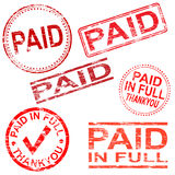 Paid Rubber Stamps Stock Photo