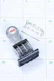 Paid stamp Stock Image